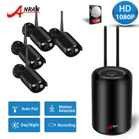 ANRAN 8CH 1080P HD WiFi NVR Kit Wireless Outdoor Home Security Camera System 1TB