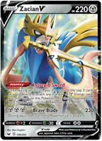 Pokemon Zacian V PTCGO Sword & Shield 138/202