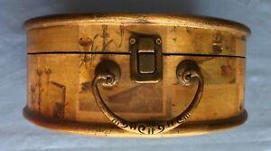 Vintage Decorative Felt-lined Round case