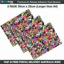 JDM STICKER BOMB 3 PACK Larger than A4 Drift hoon laptop skateboard wrap #S024