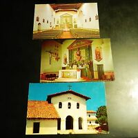 San Luis Obispo Mission Interior Tolosa Postcard Lot California CA Alter Church