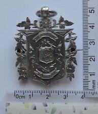1893 Antique Vintage  Silver FOB/ Badge Medal Birmingham Hallmark (5)