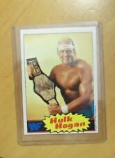 1985 TOPPS HULK HOGAN WRESTLING CARD - #1 ROOKIE NEAR MINT  PSA ?