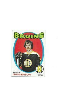 Derek Sanderson Bruins NHL CTR 1971-72 Topps Ice Hockey Card 65 Single Original