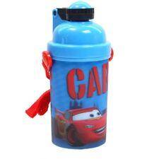 Disney Cars 2 Flip Top Straw Drink Travel Bottle 380ml Blue