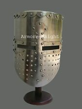 Medieval Crusader Great Helmet Knight Armor Larp Reenactment Collectible