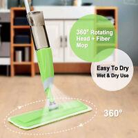 360° Microfiber Spray Mop Cleaner Wet Hardwood Home Floor Kitchen Dust Sweeper
