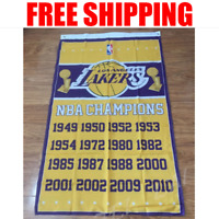 Los Angeles Lakers Champions Flag NBA Basketball Banner 3X5 ft 2 Gromments