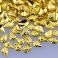 500PCS frosted gold metal nail art decorations studs accessoires supplies tool
