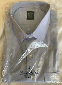 NWT Brooks Brothers Blue Dress Shirt 19 34/35 Non-Iron All Cotton