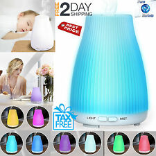 Diffuser Humidifier Essential Oil 8 LED Light Ultrasonic Aroma Aromatherapy