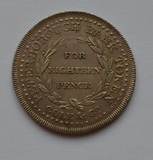 More details for 1811 peterborough bank 18 pence silver token lovely detail