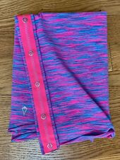 IVIVVA Village Chill Pink & Blue Space Dye Infifnity Scarf EUC OS