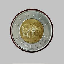 1996 BU $2 Canada Two Dollar Polar Bear Brillant Uncirculated Coin MS From Roll