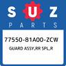 77550-81A00-ZCW Suzuki Guard assy,rr spl,r 7755081A00ZCW, New Genuine OEM Part
