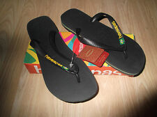 NEW HAVAIANAS BRASIL MENS WOMENS FLIP FLOPS UNISEX SIZE  8  BEACH SANDALS