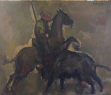 """Péralès """" Corrida"""" Huile sur toile, datée 1960   v 482"""