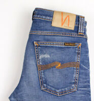 Nudie Jean Hommes Tube KELLY Extensible Slim Jean Taille W30 L30 ASZ546