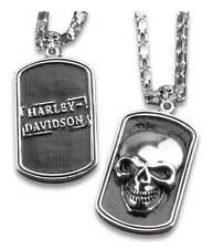 Harley-Davidson 3D Skull Heavy-Duty Premium Chain Dog Tag, Chrome 8005009