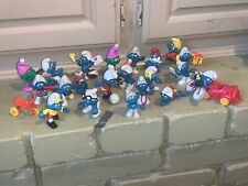Smurfs Lot of (24) Vintage Toy Figures! Smurf PEVO, Empire Figurines Old 60s,70s
