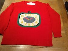 CATH KIDSTON CLOCKS RED MEDIUM JUMPER. NEW WITH TAG. RRP £70