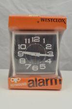 Vintage Westclox 12169 Plain Dial Chipper White Black Usa Made New Nib Keywound