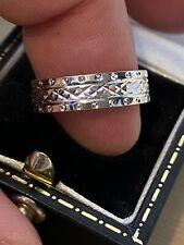 superb 9ct White Gold Mens Gents Womens Ladies??? diamond band Ring WOW