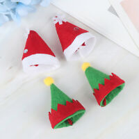 6pcs Lollipop Christmas Hat Small Mini Candy Santa Claus Cap Decoration Party CJ