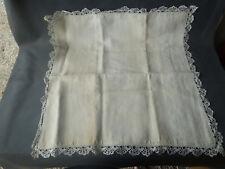 Antik Kissenbezug aus Leinen mit Spitze,Altes Bill Dickes,Old Französisch Fabric