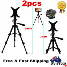 2 x Adjustable Tripod With Universal Tablet Holder Mount for iPad Air Mini 2 3 4