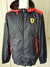 Puma Ferrari SF Hooded Full Zip Windbreaker Jacket   Medium