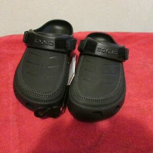 New Men's Rugged Crocs Yukon Vista Leather Upper Clogs, Casual Shoes.