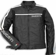 DUCATI BLACK  MOTORBIKE  LEATHER JACKET CE APPROVED