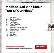 MELISSA AUF DER MAUR Out Of Our Minds UK watermarked & numbered promo test CD