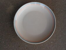 "Pfaltzgraff AURA  6 3/4"" DESSERT/BREAD PLATE   Pink and Blue Bands"