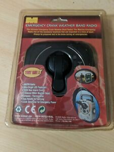 M Concepts - Emergency Crank Weather Band Radio with Flashlight Clock & More