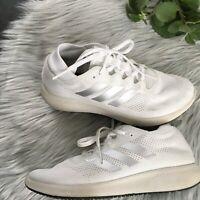 Adidas white bounce+ cushioning athletic running gym Women's shoes 7.5