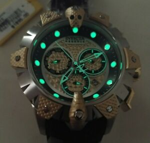 Invicta 32132 52mm Reserve Venom Viper Swiss Quartz Chronograph Poly Strap Watch