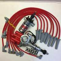 Ford Cleveland 302 351 V8 Distributor With Coil And Spark Plug Leads