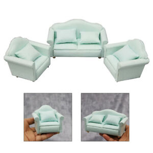 1/12 Scale Dolls House Miniature Sofa Armchair Couch Furniture Xmas Gift