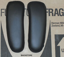 Genuine OEM Herman Miller Aeron Chair Leather Armrest Covers - Pair Arm Cushions