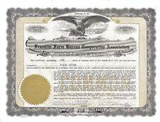 Franklin Farm Bureau Cooperative >  1960 Pennsylvania old stock certificate