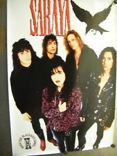 SARAYA Large 1991 PROMO POSTER When The Blackbird Sings super mint condition