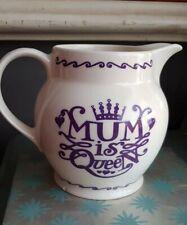 "Emma Bridgewater - 1.5 Pint Jug - ""Mum is Queen""  - Discontinued"
