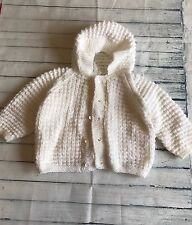 Baby Girls Clothes 6-9 Months - Lovely  Girl Hand Knitted Cardigan