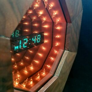 Octagonal 8 Sided Infinity Mirror Clock Light Works Possibly Handmade Project