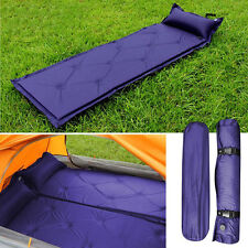 Self Inflatable Inflating Air Mattress Sleeping Pad Outdoor Bed Camping Mat Blue