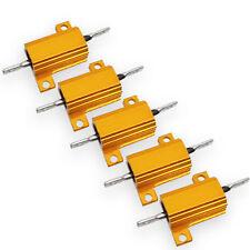 US Stock 5x 10 ohm 10R 10W Watt Aluminum Housed Metal Case Wirewound Resistors