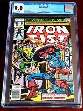 Iron Fist #12 Apr 1977 CGC VF/NM 9.0 WHTE Marvel Captain America & Wrecking Crew