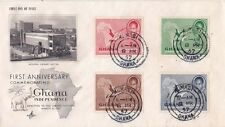Ghana 1957 FDC 1st Annivesary of Independce {Artcraft} canc. at Kumasi